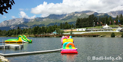 Crans-Montana beach club etang long