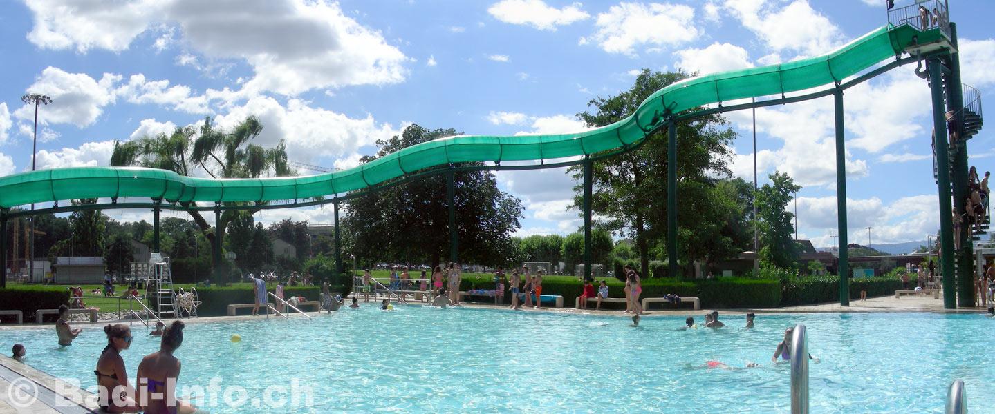 Gen ve carouge piscine de fontenette toboggan for Carouge piscine