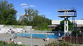 Sprungturm Freibad Vernets Genf