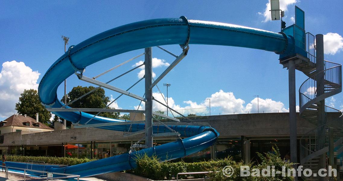 Toboggan piscine de lancy geneve - Piscine municipale avec toboggan montreuil ...