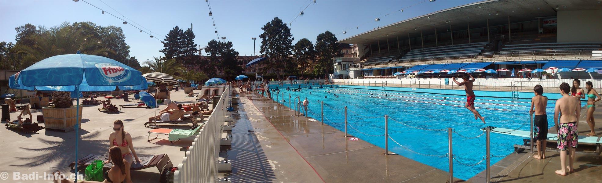 Lausanne dans la piscine montchoisi for Piscine lausanne