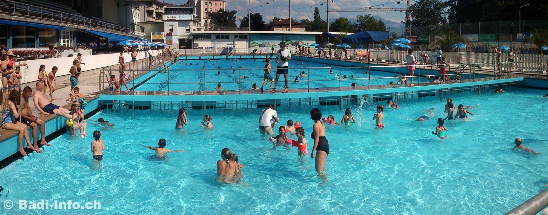 Lausanne piscine en plein air montchoisi for Piscine de jardin suisse