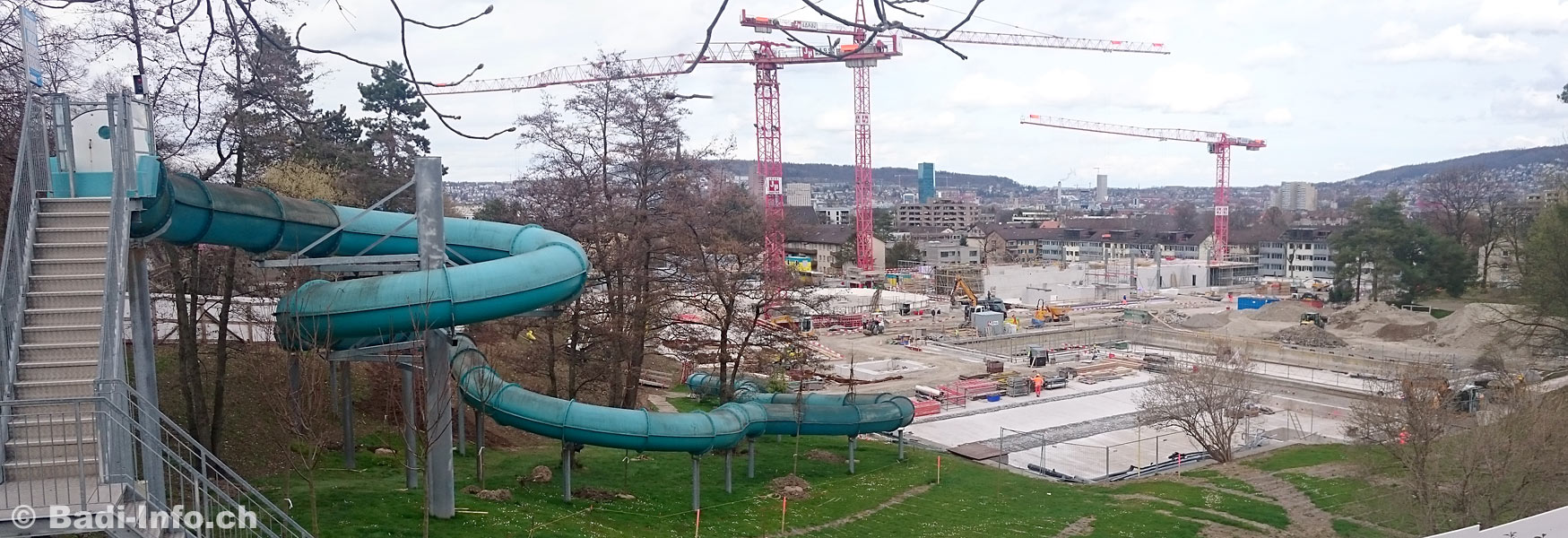 Baustelle Schwimmbad Heuried