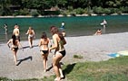 Bern Eichholz Aare Freibad