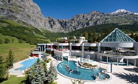 Leukerbad Therme Thermalbad Wallis